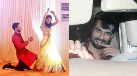 Shahid Kapoor's Sangeet: Groom-to-be dances with fiancee Mira Rajput