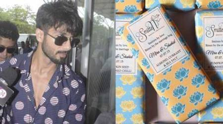 Shahid Kapoor's Wedding: Personalised chocolate bars from the couple