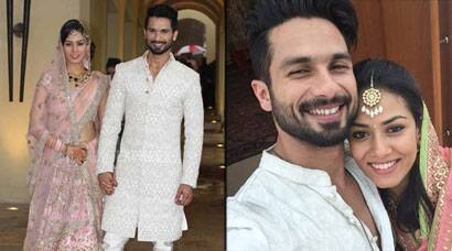 Shahid Kapoor and Mira Rajput get hitched, couple post their first selfie
