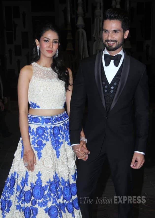 Shahid Kapoor wedding reception photos, Shahid Kapoor reception, Mira Rajput