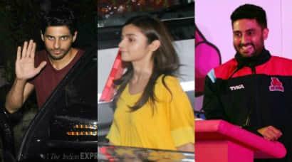 Sidharth Malhotra, Alia Bhatt, Abhishek Bachchan