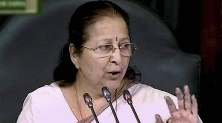 Sumitra Mahajan, Congress, Congress MPs suspension, Monsoon session 2015, N K Premachandran, suspended Congress MPs, Left, Rahul Gandhi, Bjp government, nda government, Congress MPs suspended, Congress LS MPs suspended, indian express, india news, nation news