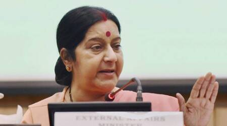 In eye of the storm, Sushma Swaraj meets, greets and works