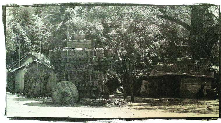 Chakola's photograph of the hand-crafted wooden chariot outside a temple in Ayodhyapattinam. The intricately-carved chariot, a highlight of the temple town in Tamil Nadu, is likely to be replaced
