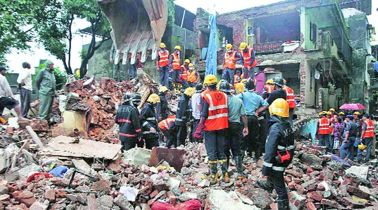 After a nine-hour operation, the rescue team had managed to locate and pull out 19 persons from below the debris, but nine of them succumbed to their injuries.  (Deepak Joshi)