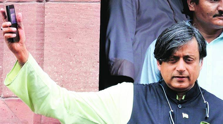 Congress MP Shashi Tharoor at Parliament on Friday. (Source: Express photo by Prem Nath Pandey)