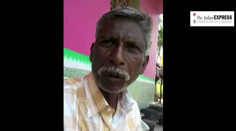 Sekhar, a survivor of the Tirupati 'encounter' in which STF personnel killed 20 people suspected to be red sander smugglers