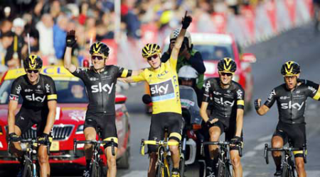 Chris Froome wins second Tour de France title in three years