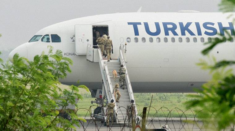 turkish airlines, turkish airlines flight, delhi airport bomb threat, turkish airlines flight, delhi flight bomb, delhi news, turkish airlines news, india news