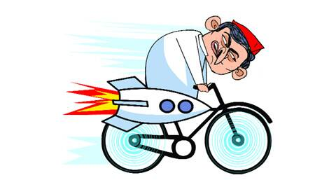 2017 Assembly polls: Akhilesh pushes pedal, pins hope on 'Samajwadi cycle'