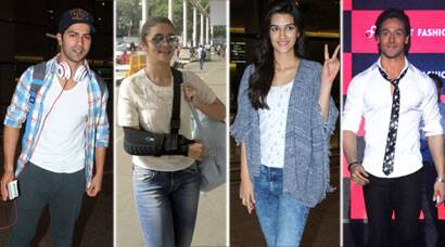 Alia, Varun, Kriti at airport, Tiger Shroff at a launch event