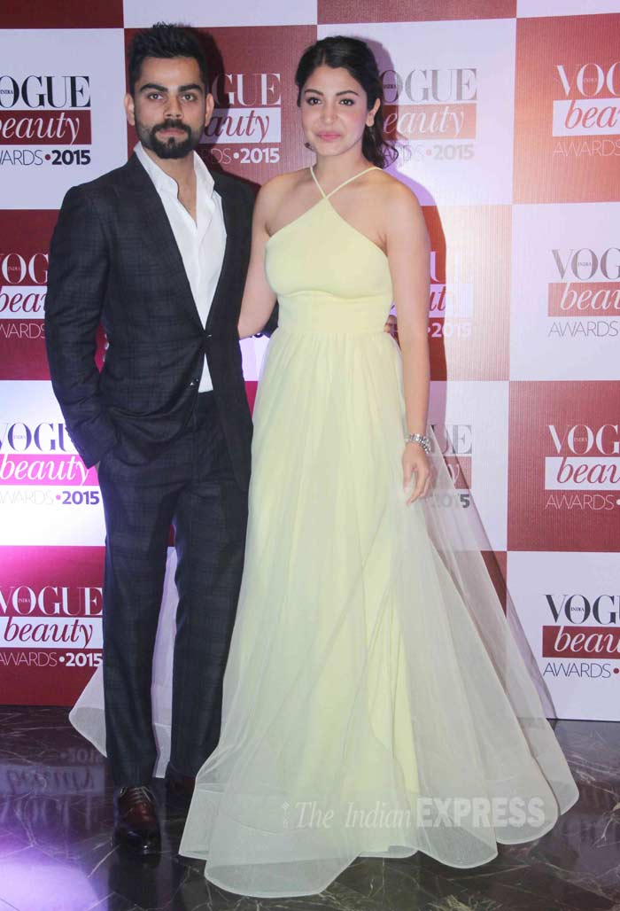Virat kohli, Anushka Sharma, Anushka Virat, Virat Anushka, Vogue beauty awards,