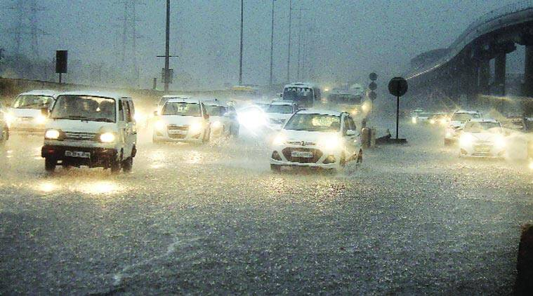 Image result for heavy rainfall in delhi today