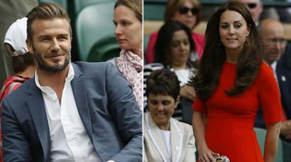 Wimbledon 2015: Attention shifts off court to Kate Middleton, Prince William, David Beckham