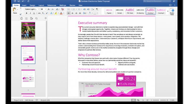 microsoft office 2016 arrives for mac users the indian express