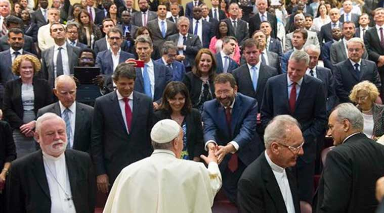 climate change, vatican climate change, Pope Francis climate change, Pope Francis, world mayors, international news, news