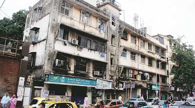 The Bismillah building in Mahim, where eldest brother Suleman and his mother Hanifa now live. (Source: Express photo by Pradip Das)