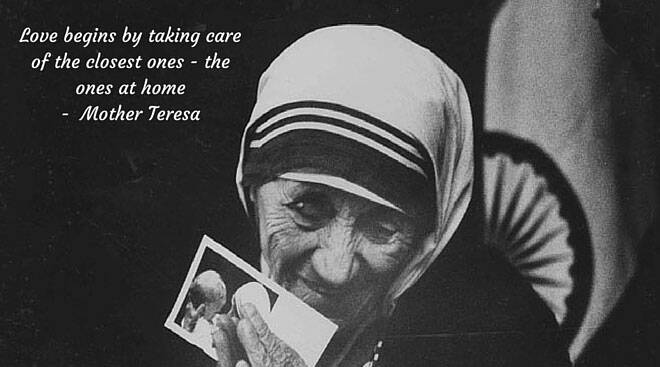 Words of wisdom and compassion by Mother Teresa, now