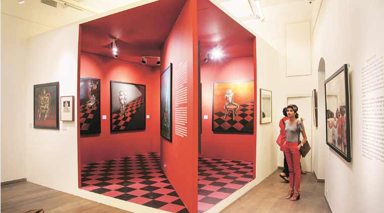Rabin Mondal, Delhi Art Gallery, Kingdom of Exile, Delhi art exhibitions, rabin mondal exhibition, rabin mondal interview, rabin mondal art, rabin mondal paintings, indian express talk