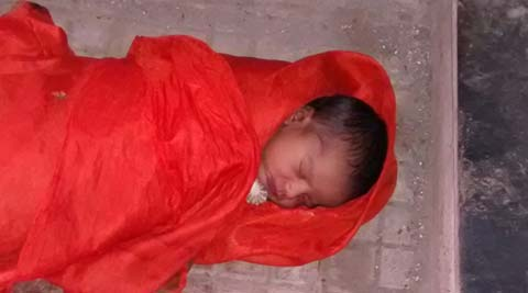 Eight-day-old baby found abandoned in Dombivli East on Raksha Bandhan