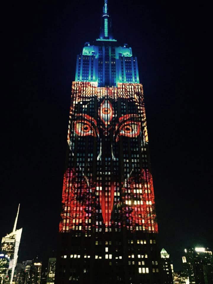 Kali, Empire State Building, Obscura Digital, Android Jones, Louie Psihoyos, Projecting Change, Hindu, Destruction, Saviour, Kali, New York, Viral, Trending news