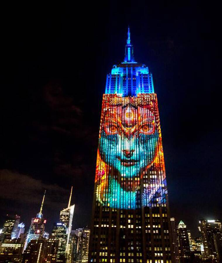 Kali, Empire State Building, Obscura Digital, Android Jones, Louie Psihoyos, Projecting Change, Hindu, Destruction, Saviour, Kali, New York, Viral, Trending news