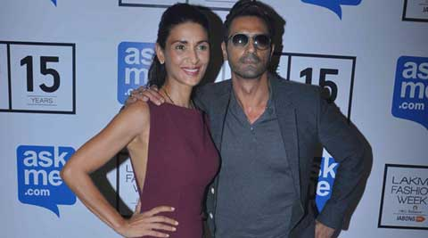 Arjun Rampal, Mehr Jessia put up united front at fashion week