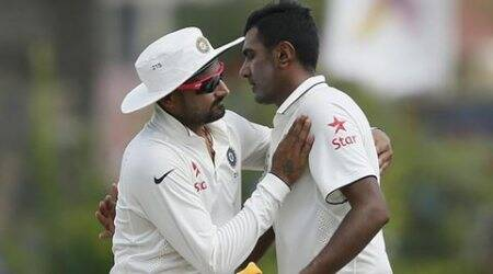 Ravichandran Ashwin, India find outside edge