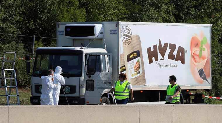 austria, austria migrants, austria migrants death, austria truck accident, european migrant crisis, europe news, world news, latest news