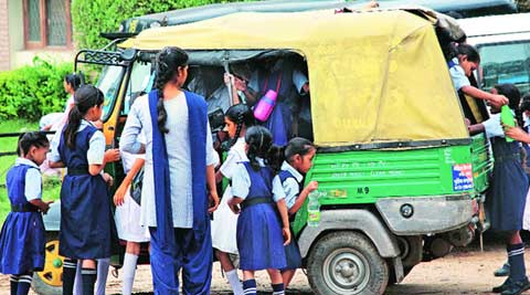 Chandigarh: Auto-rickshaws flout norms, ferry up to 10 school kids each