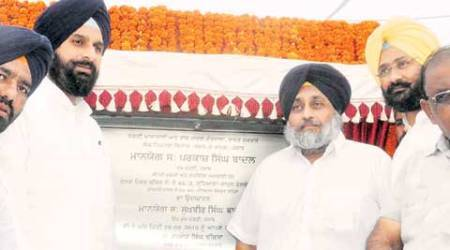 sukhbir singh badal, sad, bjp, bridge, railway bridge, chandigarh news, india news
