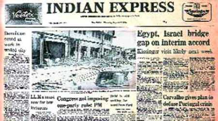 Indian express, indian express forty years ago, indian express newspaper, BBC, Congress, Indira Gandhi, AICC, Parleys, Egypt, Israel, West Asia peace, Pataudi, Mansur Ali Khan Pataudi, india news, news