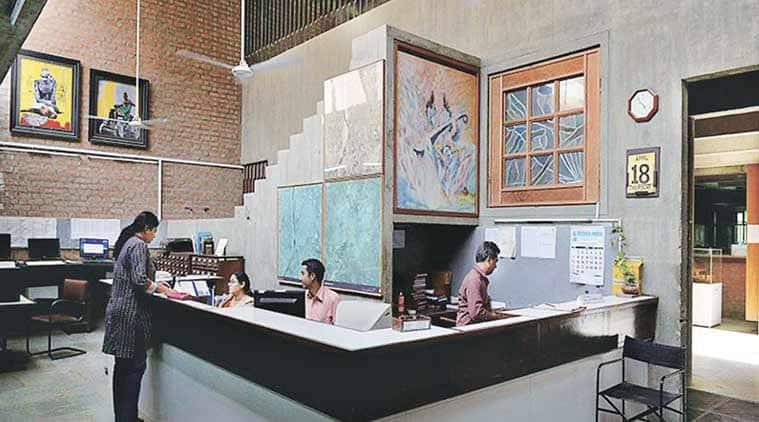Cept University Library Design Mughal New