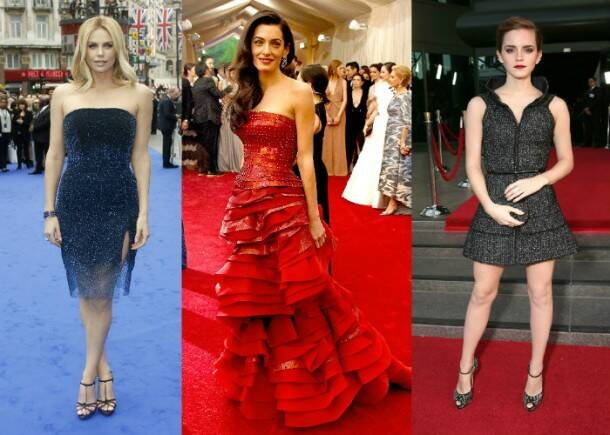Charlize Theron, Amal Clooney, Emma Watson