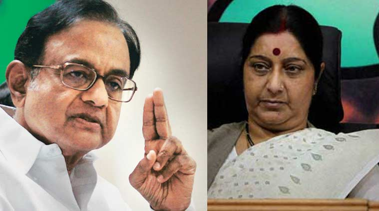 Chidambaram made the remarks in reaction to Swaraj's emotional statement in the Lok Sabha on Thursday, saying that she had not helped Modi but his cancer-stricken wife.