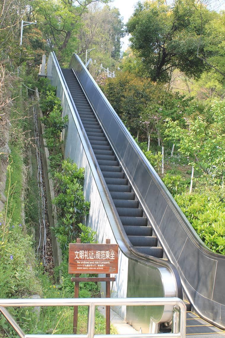 Escalator to a viewpoint, Nanjing