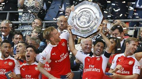 Arsenal edge Chelsea 1-0 to lift Community Shield at Wembley