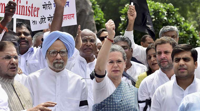 parliament logjam, Monsoon session, Congress MP suspended, Congress protest, Congress Parliament boycott, Opposition parliament boycott, parliament news, monsoon session news, india news, top stories