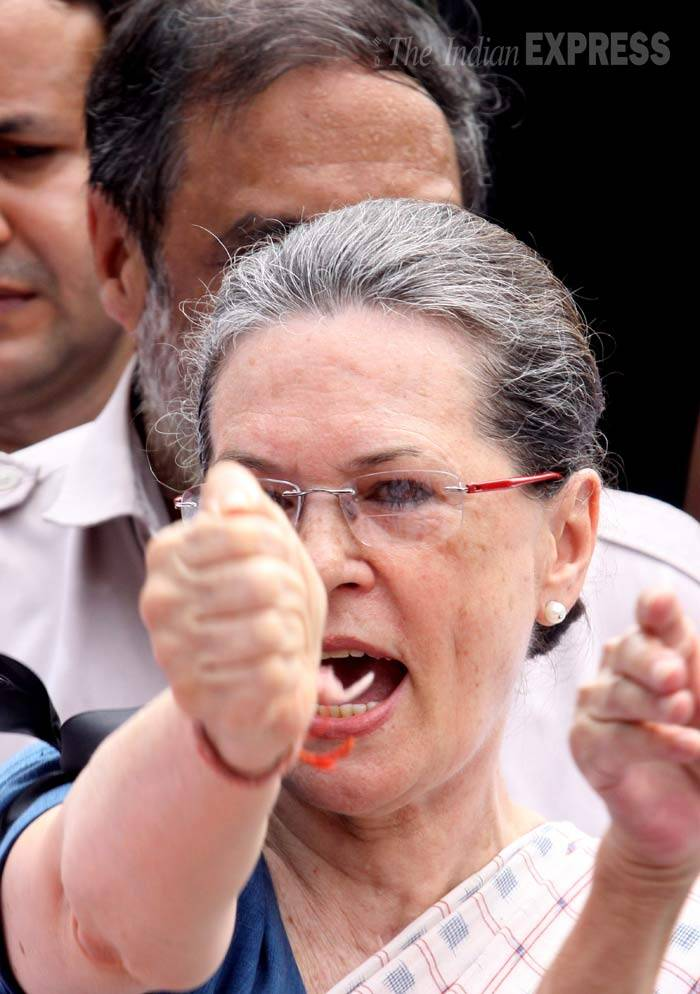 Sonia Gandhi, Monsoon session, Parliament protest, MP suspension