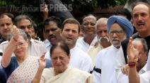 Congress, Congress Protest, Lok Sabha Suspension, Sonia Gandhi, Rahul Gandhi, Monsoon session, Parliament, All Party Meeting, Sumitra Mahajan, Manmohan Singh, Vasundhara Raje, Sushma Swaraj, Shivraj Singh Chouhan, Lok Sabha, Congress MPs, Congress MP suspended, BJP, Congress News, Parliament News, Lok Sabha News, BJP News
