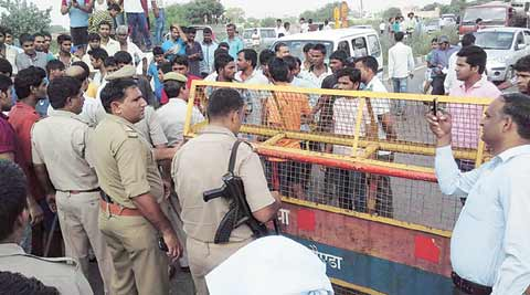 Meat pieces found near Bishada village; police restrict entry of visitors