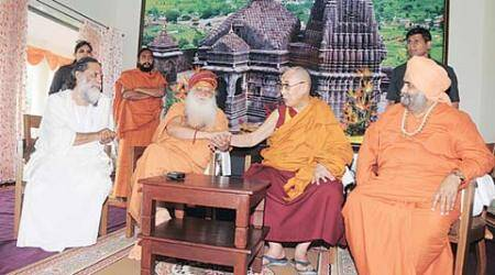 Dalai Lama meets sadhus at Trimbakeshwar