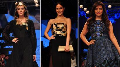 LFW 2015: Ramp Goddesses Evelyn Sharma, Neha Sharma, Elli Avram