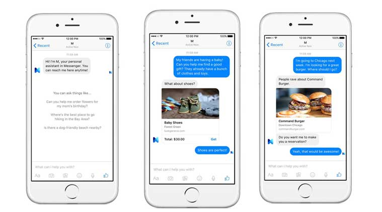 Facebook M is the new voice-assistant in Messenger app.