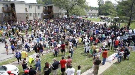 Minutes of silence, march mark Michael Brown anniversary in Ferguson