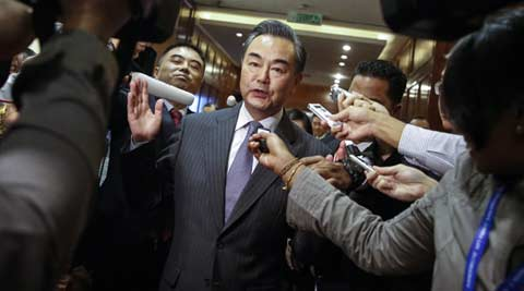 south china sea, south china sea land reclamation, south china sea land, chinese foreign minister, Wang Yi, Wang Yi china, china land reclamation, chinese land reclamation, world news