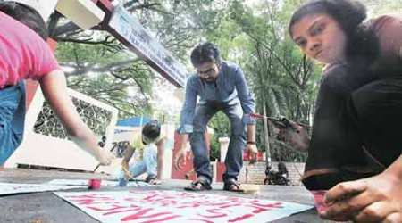 Now at FTII: Students' protest dons an innovative mask