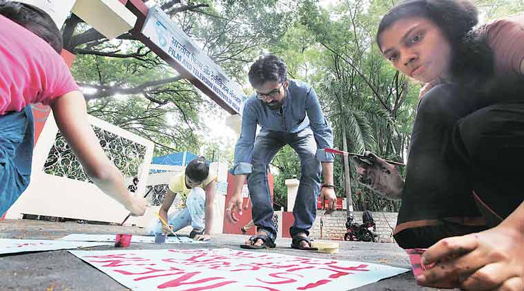 ftii, gajendra chouhan, ftii news, ftii protests, ftii protests delhi, ftii delhi protests, ftii row, ftii pune, pune news, india news, indian express