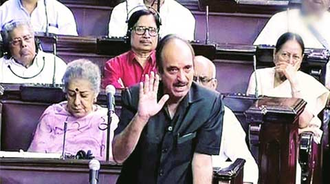 Ghulam Nabi Azad, rajya Sabha, lok sabha, parliament news, monsoon session, india news, indian express