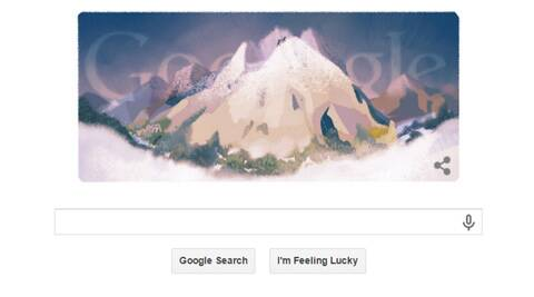 mont blanc first ascent, first ascent to Mont blanc, mont blanc, google doodles, mont blanc google doodle, google doodle mont blanc, google doodle mont blanc, google mont blanc, mont blanc google